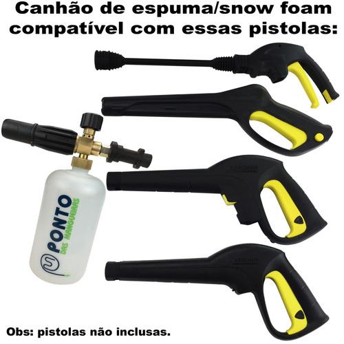 canhão espuma snow foam p/ lava jato karcher k1 k2 k3 k4 k5