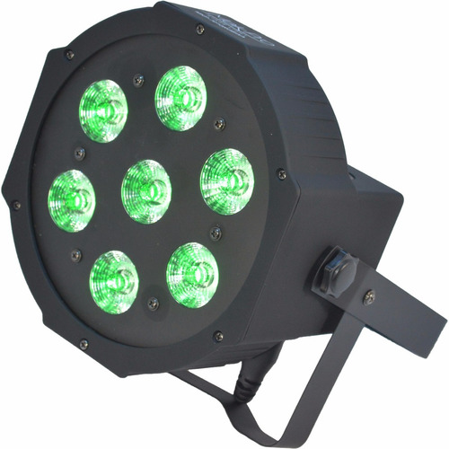 canhão led par slim 7x10w 4in1 quad led rgbw 70 watts strobo