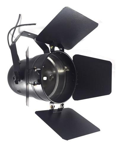 canhão  par 38 com barndoor integrado lâmpada 120w 220v.