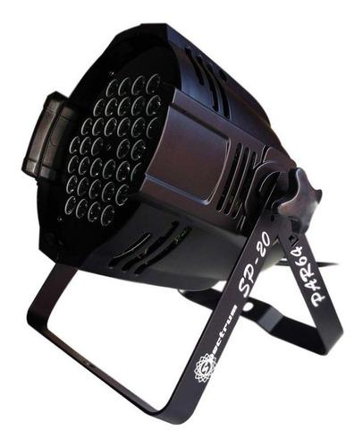 canhão par 64 sp 20/1 led rgb 36w c/ 36 leds dmx - spectrum