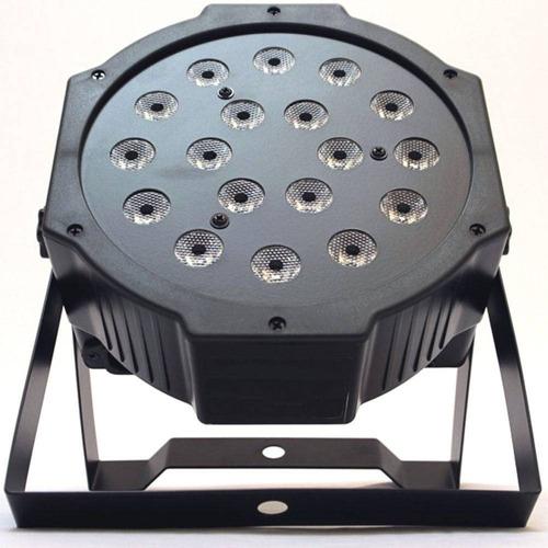 canhão refletor bx-18 led strobo dmx par 64 rgb 18w digital