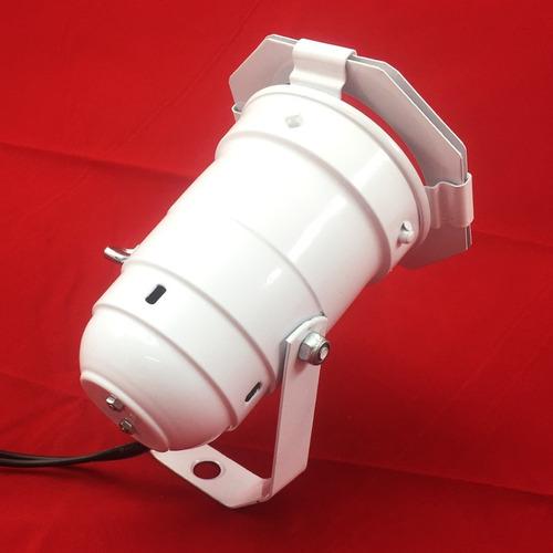 canhão refletor par 20 branco com porta gelatina - spot luz