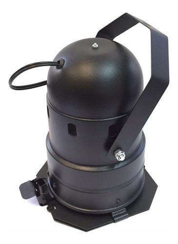 canhão refletor par 38 preto - porta-gelatina e barndoor