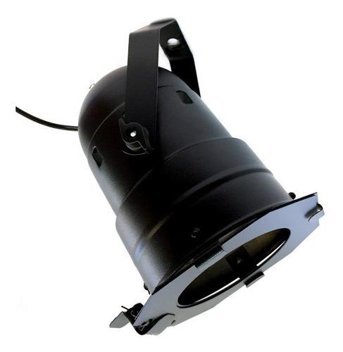 canhão refletor par 38 preto porta-gelatina e suporte chão