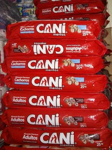 cani canimentos adulto 25 kg $57.75 por mayor y menor
