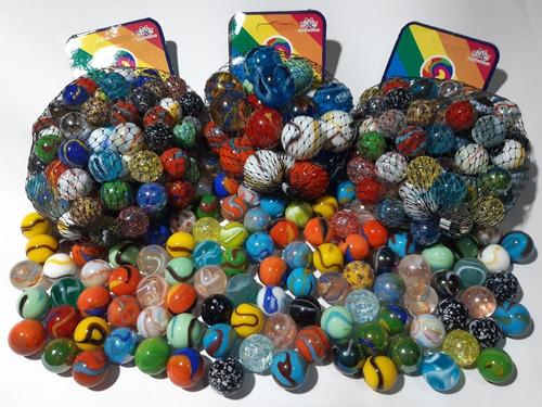 canicas de vidrio hermosos colores colección juego juguete