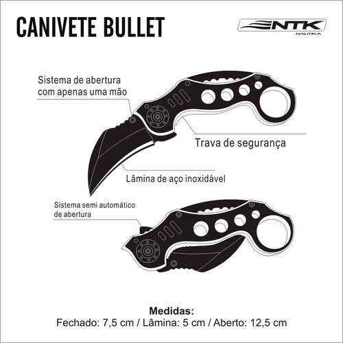 canivete bullet - ,nautika
