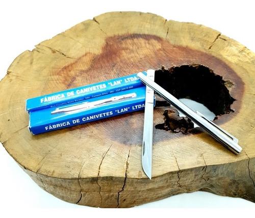 canivete caneta lan grande original na caixa da fábrica lan