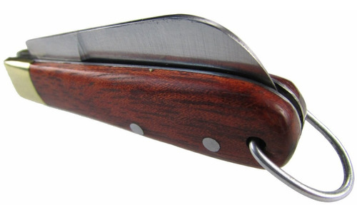 canivete churrasqueiro inox com bainha e canivete chaveiro