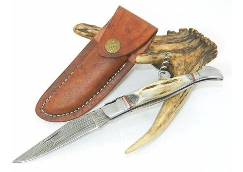 canivete damasco 252 camadas utilitário c/ bainha