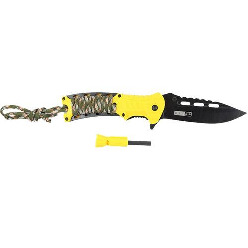 canivete de sobrevivência camping com apito azteq xisco