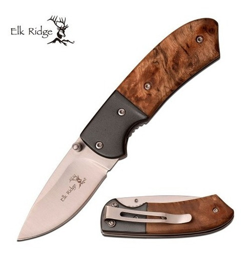 canivete elk ridge talas em madeira e alumínio