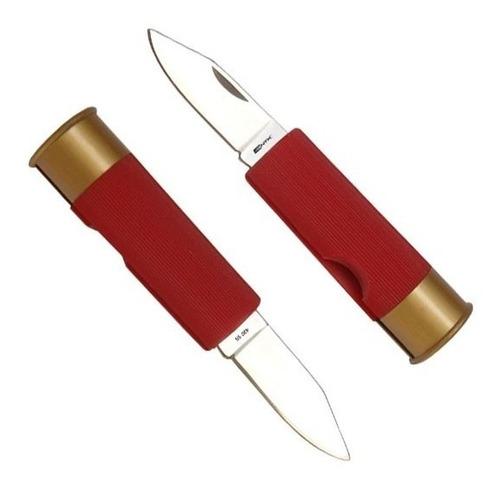 canivete faca bala cartucho de espingarda 12 shot nautika