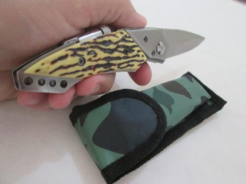 canivete faca caça pesca sobrevivência tático militar.