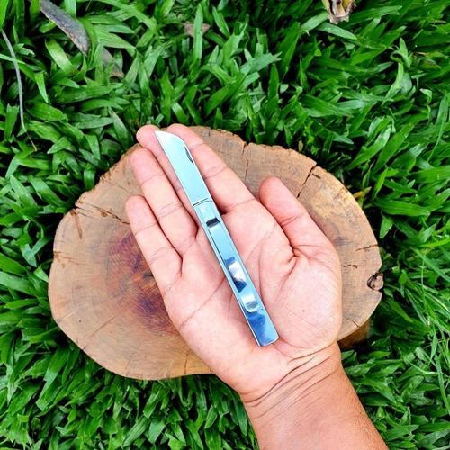 canivete lan pratice pequeno original todo em aço inox