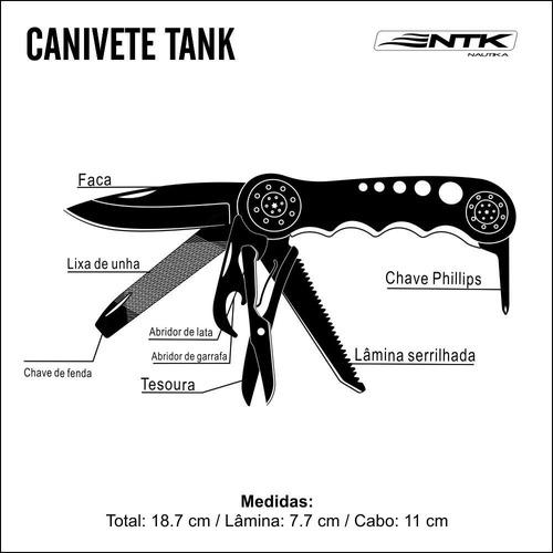 canivete multifunção tank - nautika