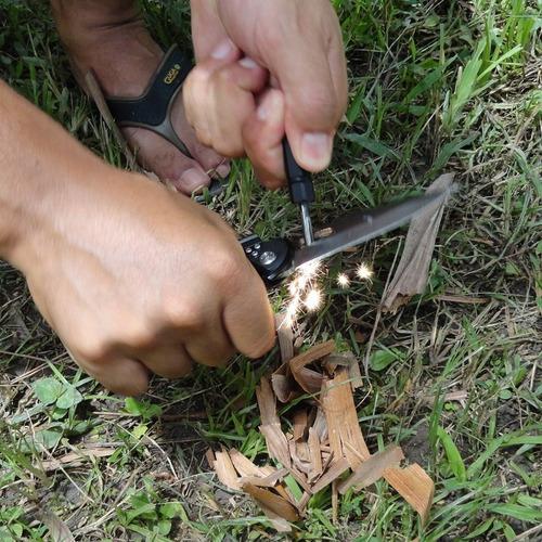canivete nautika com pederneira apito e bainha