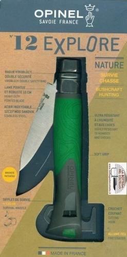 canivete opinel n12 explore - apito pederneira outdoor edc