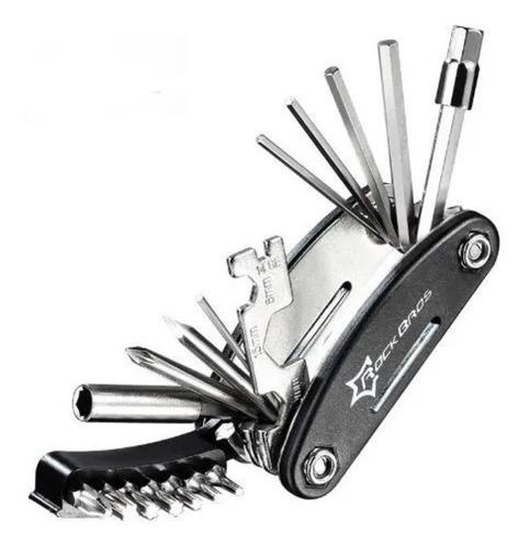 canivete rockbros 16 funções kit chave allen ferramenta bike