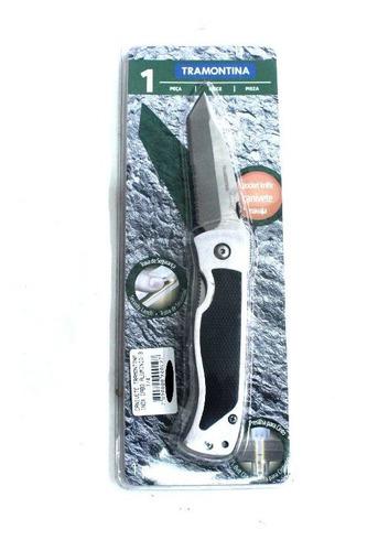 canivete tramontina inox cabo aluminio-3.1/4