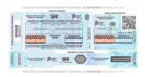 canje inmediato matafuego auto 1 kg recarga vtv con patente