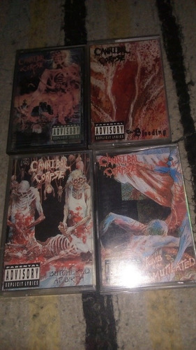 cannibal corpse lote cassette death metal
