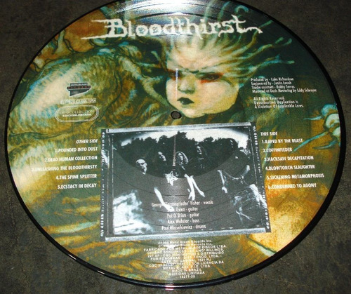 cannibal corpse - lp picture disc - bloodthirst - limitado