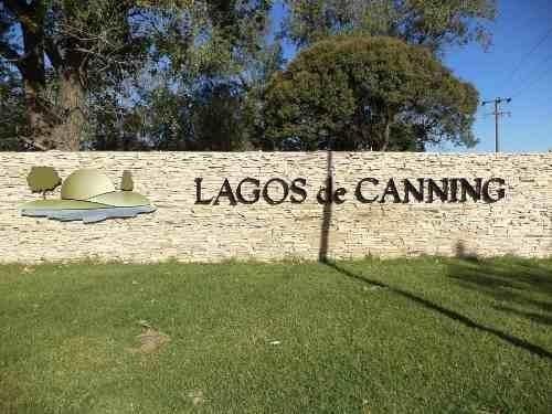 canning excelente lote en lagos de canning c/fac.