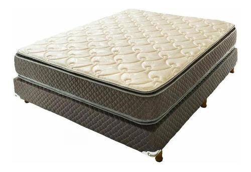cannon exclusive colchón pt y sommier 1½  plaza 190 x 100 cm