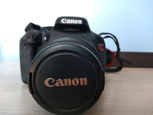 cannon t3i rebel com lente 18 55 mm completa