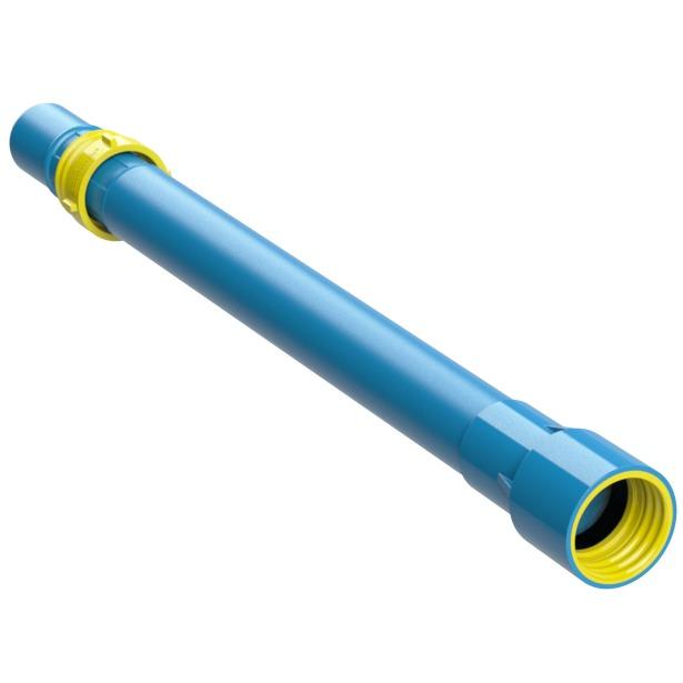 cano 2 pn 80 azul irrigação tubo pvc 50mm engate rosca