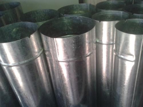 caño chapa galvanizada zinc redondo 4 pulgadas x metro