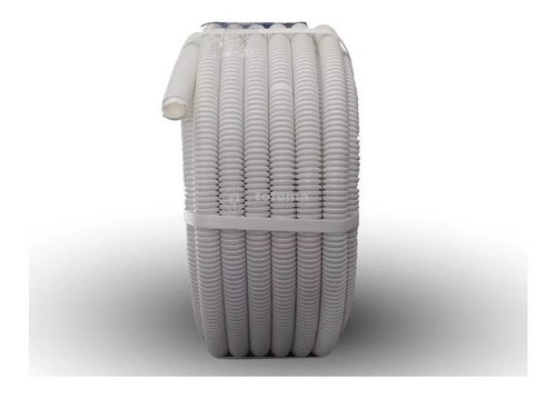 caño corrugado 3/4 blanco liviano pvc rollo 25mts - tofema