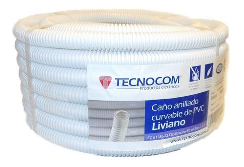 caño corrugado blanco 3/4 ignífugo flex p cable electrico