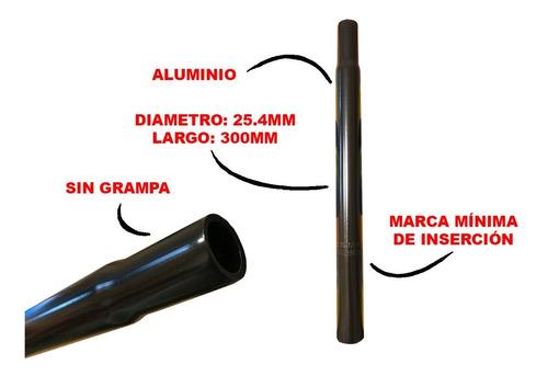caño de asiento de bicicleta - aluminio - 25,4mm x 300mm