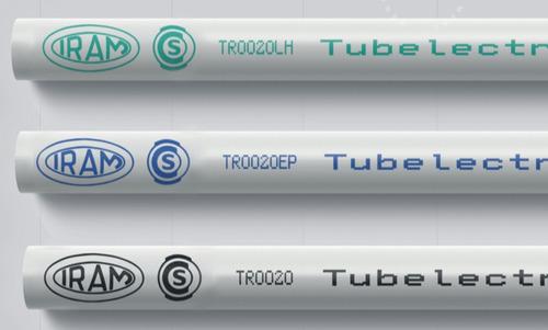caño luz pvc 20mm tubelectric semi-pesado