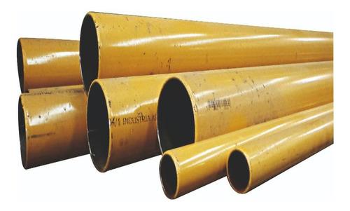 caño para gas de acero epoxi de 1 y1/2 x 6.4m+aproba+envio g