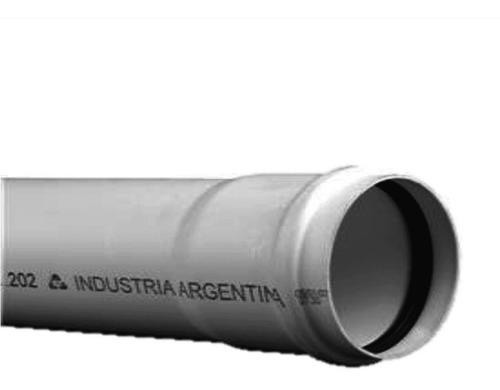caño tubo 50mm (1m) tigre junta elastica pvc desague