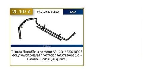 cano tubo agua refrigeração gol 1000 92/96 vc107a