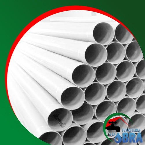 caño tubo de pvc de 40mm x 4 mts. x 1,2mm pluvial cloacal