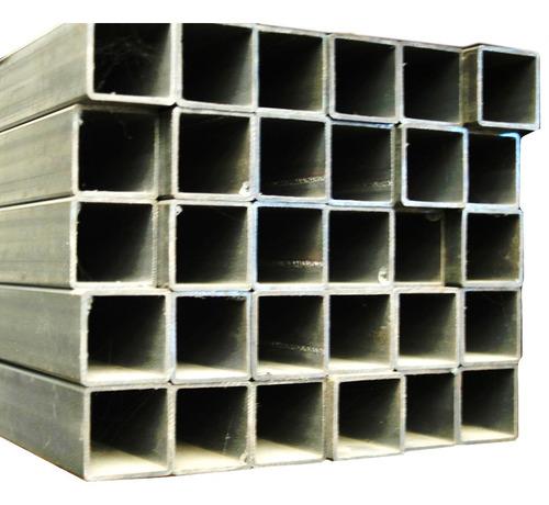 caño tubo hierro cuadrado rectangular 100 x 100 2mm 6 metros