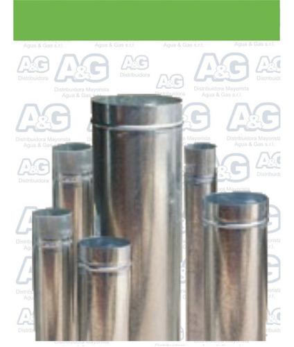 caño / tubo zinc ventilación de 5 pulgadas x 1 metro