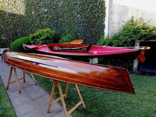 canoa de madera original  palas vicchiola .precio por unidad