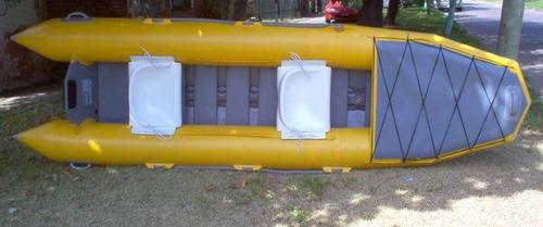 canoa inflable alovecs, tipo doki para 2 personas