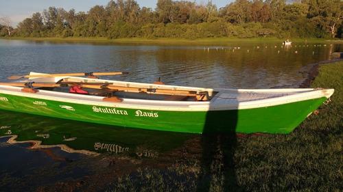 canoa paranaense a remos. unica en su tipo