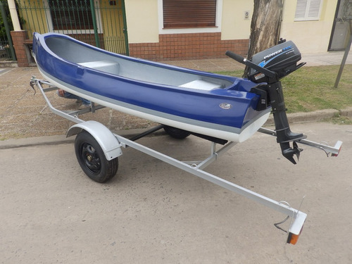 canobote 3,80 mts. trailer y motor 2,2 hp nautica milione 4