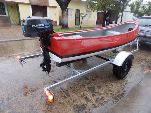 canobote 3,80 mts. trailer y motor 2,2 hp nautica milione 6