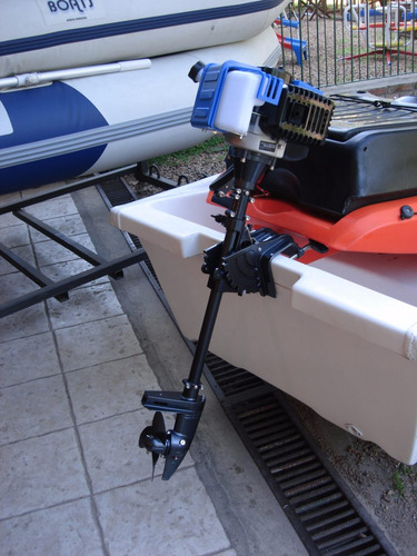 canobote caiman 420 + motor powertec 2hp