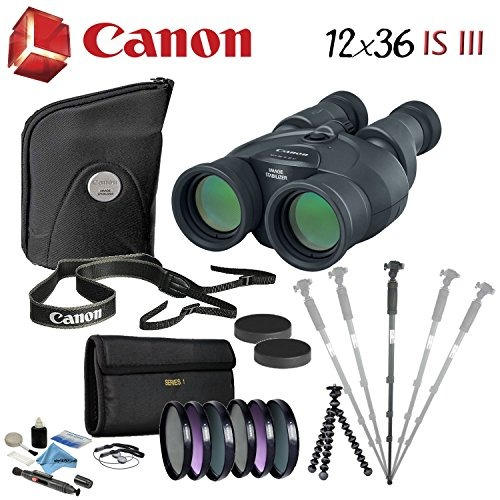 Canon 12x36 Is Iii Image Stabilized Binocular Advanced Bundl