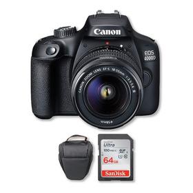 Canon 4000d Con Lente 18-55mm + Memoria 64gb 100mb/s + Bolso